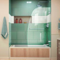 "DreamLine™ Aqua UNO Single Panel Hinged Tub Door SHDR-3534586-01, 34"" x 58"""