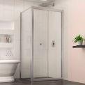 "Dreamline SHDR-4530300-RT-01 Butterfly Bi-Fold Shower Door, Chrome, 30-7/8"" x 30-7/8"" x 72"""