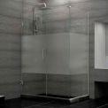 "Dreamline SHEN-24535300-HFR-01 Unidoor Plus Hinged Shower Enclosure, Chrome, 53-1/2"" x 30-3/8"" x 72"""