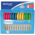 "Westcott® School Pack of Kids Scissors with Microban Protection, 5""L Blunt, Assorted, 12/Pack"
