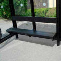 ADA Bench for 10' Bus Smoking Shelter, Bronze
