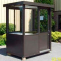 "Aluminum Outdoor Guard Booth, 6' x 8' x 7' 6"", Bronze"