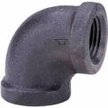 1/2 In. Black Malleable 90 Degree Elbow 150 PSI Lead Free
