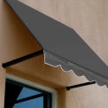 Awntech RR22-3G, Window/Entry Awning 3-3/8'W x 2-9/16'H x 2'D Gray