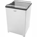 "Stainless Steel Open Top Trash Can w/Plastic Liner, 10.5 gal. cap, 14""Sq. x 21""H"