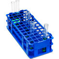 Bel-Art No-Wire™ PP Test Tube Rack 187470001, For 13-16mm Tubes, 60 Places, Blue, 1/PK