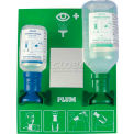 PLUM 248804003 Eye Wash Station, Open, Wall-Mount, 500ML 0.9% Saline, 200ML pH Neutralizing