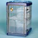 Bel-Art Secador® 4.0 Vertical Desiccator Cabinet 420741006, 1.9 Cu.Ft., Clear W/Blue End-Caps