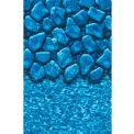 "GLI Pool Liner 050012RDBLDUB48 12' Round, Blue Base Boulder Print, 48"" UniBead"
