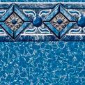 """GLI Pool Liner 050015RDCAPUB52 15' Round, White Base Capri Print, 52"""" UniBead"""