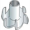 "Tee Nut - 1/4-20 x 5/16"" L - 3 Prong - Steel - Zinc CR+3 - Pkg of 250 - Brighton-Best 302050"