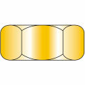 Finished Hex Nut - 3/8-16 - Med. Carbon Steel - Zinc Yellow CR+6 - UNC - Grade 8 - 100 Pk