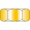 Finished Hex Nut - 3/8-24 - Low Carbon Steel - Zinc CR+3 - UNF - Pkg of 100 - Brighton-Best 319500