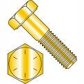 """Hex Cap Screw - 5/16-18 x 1"""" - Steel - Zinc Yellow - Grade 8 - FT - UNC - Pkg of 100 - BBI 455078"""
