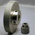 28 Tooth timing pulley, (HTD) 3mm pitch, Clear Anod. Alum.-28-3M09M6A6