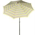 Bliss 9' Market Polyester Outdoor Umbrella, Crank & Tilt, Montauk Stripe
