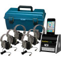 Digital Audio Hub w/ 6 Deluxe Headphones & Carry Case