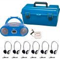 HamiltonBuhl 6 Person Listening Center w/ Bluetooth® CD/Cassette/FM Boombox & Headphones