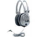 "Schoolmate Deluxe Stereo/Mono Headphone w/ 1/8"" Plug & 1/4"" Adapter, Vol Control"