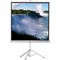 50 x 50 Heavy Duty Tripod Matte White Fabric Square Format Projector Screen