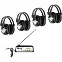 HamiltonBuhl Wireless 4 Person Listening Center w/ Multi-Freq. Transmitter & Wireless Headphones
