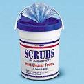 SCRUBS® Premoistened Hand Cleaner Towels, 10-1/2 x 12-1/4, 72 Per Bucket - ITW42272EA