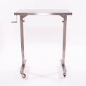"""Blickman 7892SS-O Adjustable Height Instrument Table, 36""""L x 20""""W x 36""""- 56""""H"""