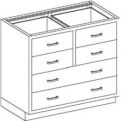 Blickman Six Drawer Base Medical Cabinet 47  x22 x 35-3/4