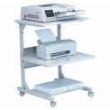 """Balt® 23701 Dual Laser Printer Stand, 31""""H x 24""""W x 24""""D, Gray"""