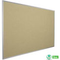 "Balt® Fabric Add-Cork Tackboard with Aluminum Trim 36""W x 24""H Nutmeg"
