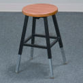 Adjustable Height Lab Stool without Back - Black