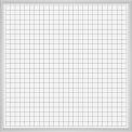 Balt® Aluminum Trim - Porcelain Markerboard with Rectangular Coordinates - 48