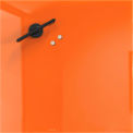 Mosaic Magnetic Glass Markerboard - Orange - 16X16 in.