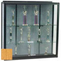 Wall Mount Display Case 4'H X 6'W Oak