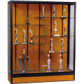 Elite Freestanding Display Case 4'W, Oak