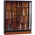 Elite Freestanding Display Case 6'W, Walnut