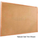"Balt® Valu-Tak Tackboard with Mahogany Wood Trim 48""W x 48""H"