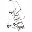 "5 Step 18""W Aluminum Wheelbarrow Ladder - Ribbed Tread"
