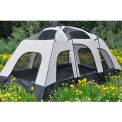 Black Pine® Fort Pine™ Tent 30049, 10 Person, 3 Season, Gray/Green-Camo Rainfly