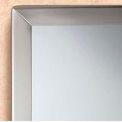 "Bobrick® Tempered Glass Channel-Frame Mirror - 24""W x 36""H"