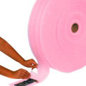 "Perforated Anti-Static Air Foam Rolls 24"" W x 550L', 1/8"" Thickness, Pink, 3 Rolls/Pk"