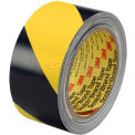 3M 2 X 36 Yds. (2 Pack) Black/Yellow 5702 Striped Vinyl Tape, 5.2 Mil