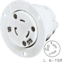 Bryant 70620ER TECHSPEC® Single Receptacle, L6-20, 20A, 250V, White