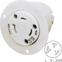 Bryant 70930ER TECHSPEC® Receptacle, L9-30, 30A, 600V AC, White