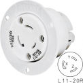 Bryant 71120ER TECHSPEC® Receptacle, L11-20, 20A, 3ph 250V AC, White