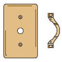 Bryant SBP12 Telephone and Coax Plate, 1-Gang, Standard, Brass Plated, Strap
