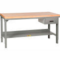 Little Giant®  Workbench, Butcher Block Top, Drawer, Adjustable, 48 x 24