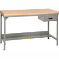 Little Giant®  Workbench, Butcher Block Top, Drawer, Fixed Height, 30 x 72