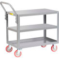 Little Giant® All Welded Service Cart 3LG-2436-UPS, 3 Shelves, Flush Top & Middle, 24 x 36