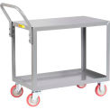 Little Giant® All Welded Service Cart LG-2436-UPS, 2 Shelves, Flush Top & Middle, 24 x 36
